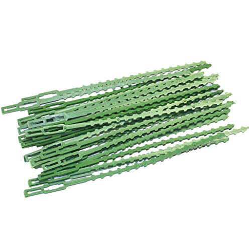Islandse New 30Pcs Garden Cable Ties Reusable Plant Support Shrubs Fastener Tree Green