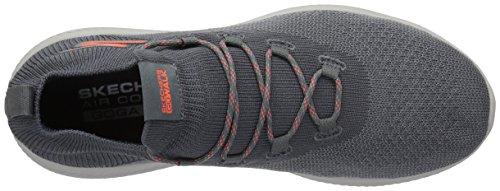 Skechers Mens Go Walk Revolution Ultra Sneaker Charcoal / Orange