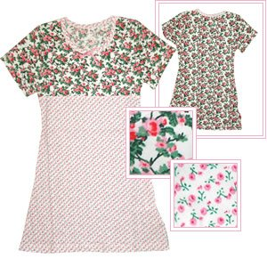 Claesen's Girl's Pink Flower Print Short Sleeved Dress