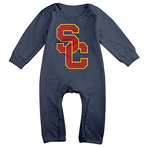 Custom Mascot Costumes California (Dadada Newborn University Of Southern California USC Long Sleeve Outfits 6 M)