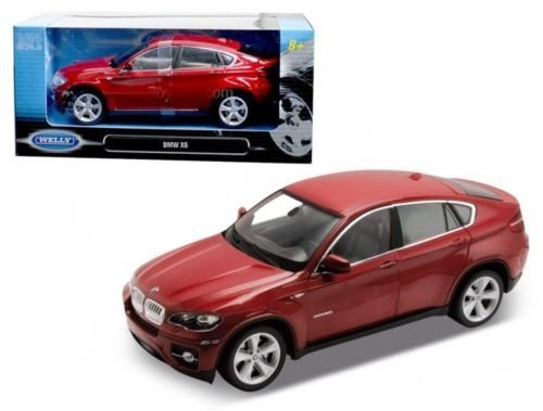 New 1:24 W/B WELLY COLLECTION - RED BMW X6 SUV Diecast Model Car By Welly