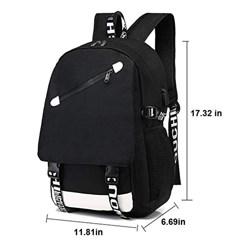 Luminous Casual Backpack For_tnite Boy&Girl Funny Custom Luminous School Bag Unisex Luminous Laptop Backpacks Fan Bag With USB Charging Port And Pencil Case by Ongjiadx (Image #2)