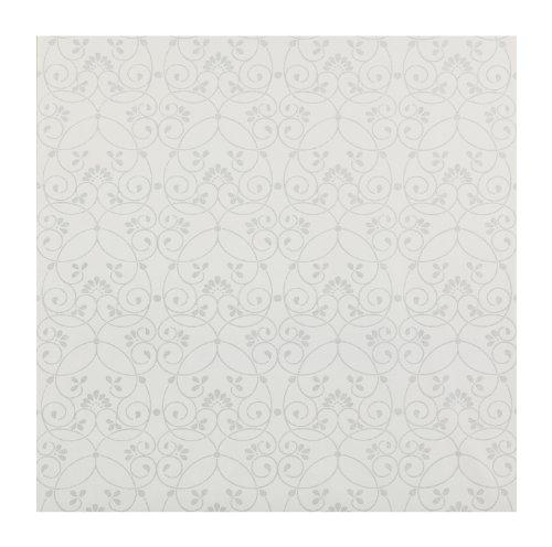 York Wallcoverings Friends Forever JE3554 Glitter Scroll Pre-pasted Wallpaper, White