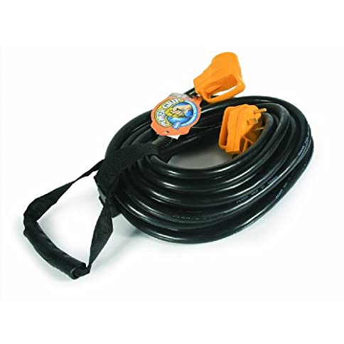 camco heavy duty rv auto extension cord with powergrip handle, includes convenient carrying strap - 50ft (10 gauge, 30 amp) (55197) - 41cAdvz  2BPL - Camco Heavy Duty RV Auto Extension Cord with PowerGrip Handle, Includes Convenient Carrying Strap – 50ft (10 Gauge, 30 Amp) (55197)
