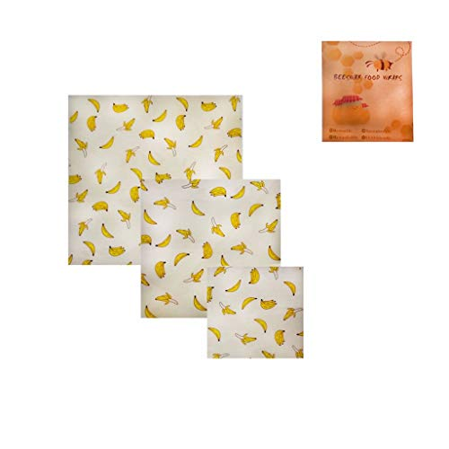 XQXCL Kitchenware Practical Tool Beeswax Food Wraps Utensil Assorted 3 Pack Eco Friendly Reusable Plastic Free Storage