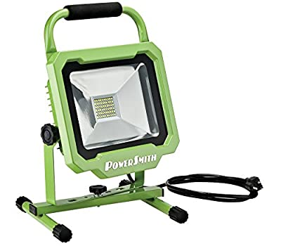 PowerSmith PWL1130BS 30W 3000 Lumen LED Work Light with All Metal Housing and 5 Ft Power Cord