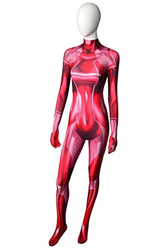 Samus Zero Costume 3D Printed Female Halloween Cosplay Zentai Suit (Medium) -