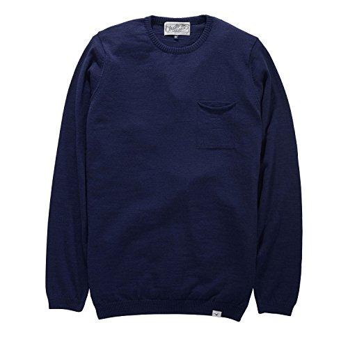 Cleptomanicx Messieurs slubber–Dark en tricot Bleu marine