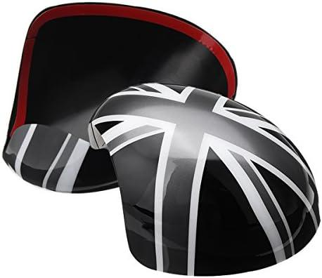 GOZAR Union Jack Wing Mirror Copre Potenza//Specchio Piega A Mano Per Mini Cooper R55 R56 R57 R60-Specchio Piegato A Mano
