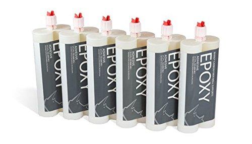Rhino Epoxy Adhesive - Fast Epoxy Glue For Foundation Repair, Basement Repair, Wall Repair, Pool Repair & Concrete Crack Repair | Construction Adhesive Glue(Pack of 6)