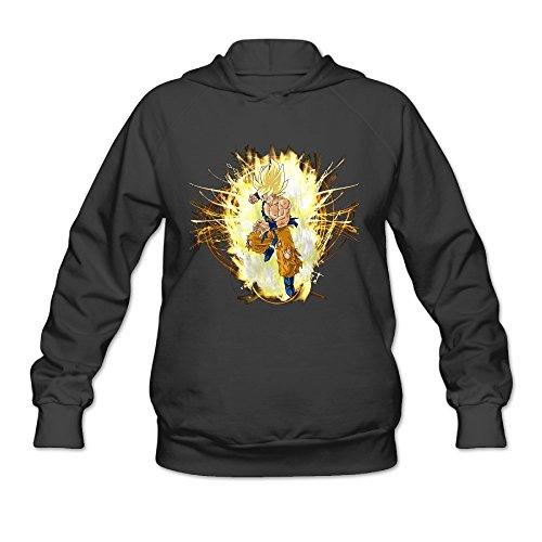 Women's Dragon Ball Z Goku Super Saiyan Goku Sweatshirts Black (Where To Buy Big Teddy Bears)