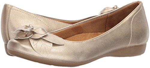 NATURAL SOUL Women's Oakley Ballet Flat, Gold, 8.5 M US by NATURAL SOUL (Image #5)