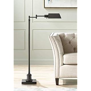Jenson Modern Pharmacy Floor Lamp Dark Bronze Adjustable Metal Head for Living Room Reading Bedroom Office - Regency Hill