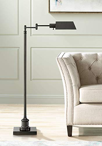 Jenson Modern Pharmacy Floor Lamp Dark Bronze Adjustable Metal Head for Living Room Reading Bedroom Office - Regency Hill
