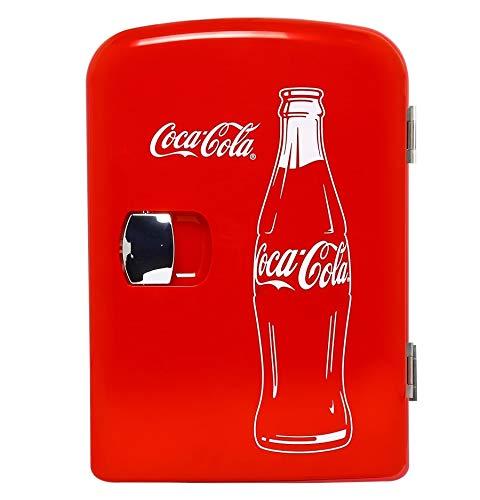 Coca-Cola Classic Portable 6 Can Thermoelectric Mini Fridge Cooler/Warmer, 4 L/4.2 Quarts Capacity, 12V DC/110V AC for…