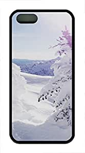 iPhone 5 5S Case landscapes nature snow 36 TPU Custom iPhone 5 5S Case Cover Black