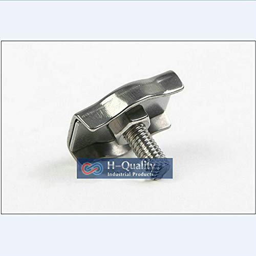 Ochoos 100PCS/LOT M2 AISI304 Stainless Steel Simplex Wire Rope Clip, Wire Rope Clip Fittings