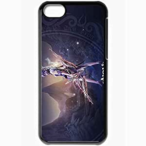 Personalized iPhone 5C Cell phone Case/Cover Skin Aion The Tower Of Eternity Girl Fire Magic Monster Black