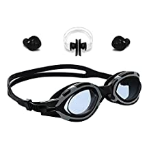Swim Goggles - Badalink Anti Fog Anti Shatter No Leaking Clear Uv Protection, Triathlon Silicone with Nose Clip, Ear Plugs for Adult Men Women Kids Technology Ultra Comfort swimming goggles