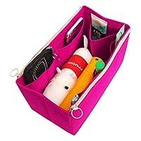 [Fits Neverfull MM/Speedy 30, Pivoine] Felt Tote Organizer (w/Double Zipper Pockets), Bag in Bag, Wool Purse Insert, Customized Tote Organize, Cosmetic Makeup Diaper Handbag