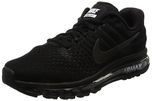 Nike Men's Air Max 2017 Running Shoe Black/Black-Black 11.0 by Nike