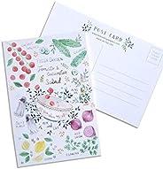 10 Salad Recipe Hand Illustrated Postcards