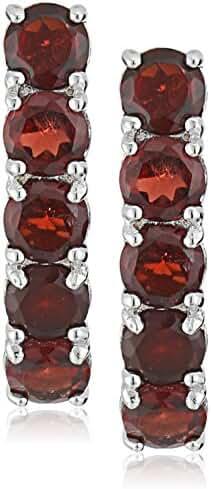 Sterling Silver 5 Stone Dangle Earrings