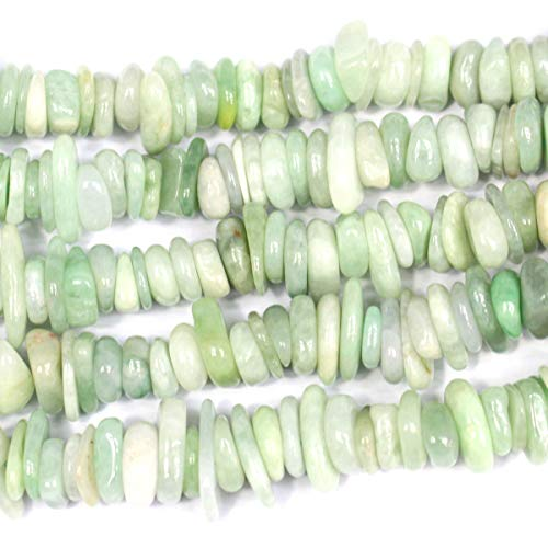 - Icokarl Burma Jade Chips Rondelle 3x10mm Natural Gemstone Loose Beads Approxi 15.5 inch DIY Bracelet Necklace for Jewelry Making