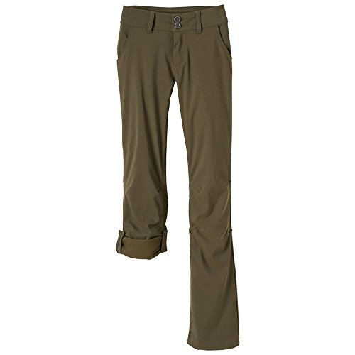 prAna Women's Short Inseam Halle Pant, 10, Cargo Green