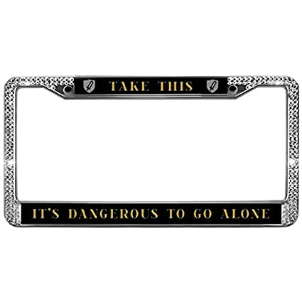 Amazon.com: GND License Plate Frame TAKE THIS IT\'S DANGEROUS TO GO ...