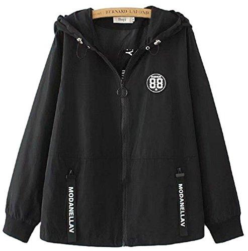 天気退院幽霊[Nana_Collection(ナナコレクション)] 春 秋 女性 羽織 薄手 ウィンドブレーカー フード付き