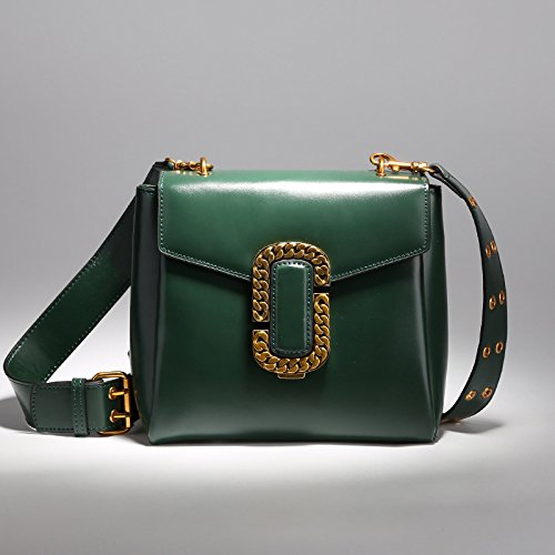 GUANGMING77 Unica Borsa A Tracolla _ Clip Femmina,Caramello Blackish green