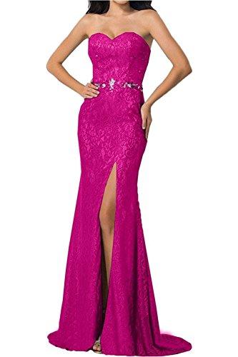 Abschlussballkleider Langes Braut La Marie Ballkleider Spitze Etuikleider Pink Abendkleider Damen Promkleider qwq70