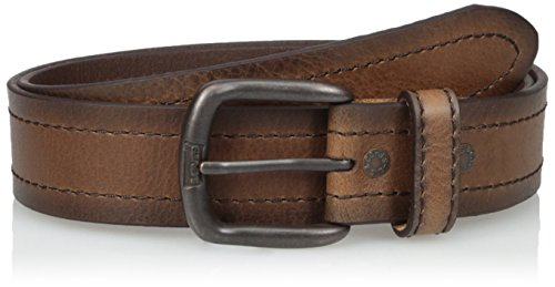 Levi's Men's Leather Belt with Double Row Stitch-Brown, Xlarge by Levi's