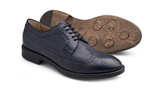 Soldini - Zapatos de cordones de Piel para hombre azul OYSTER NAVY