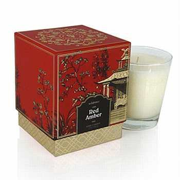 - Jardin Red Amber Boxed Candle