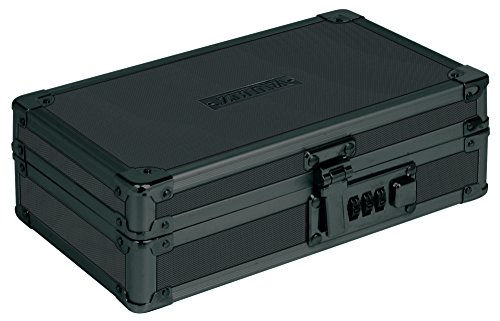 Vaultz Locking Utility Box with Combination Lock, Black on Black (Lockable Storage Box)