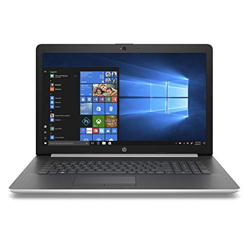 2019 Newest Premium Flagship HP Pavilion 17.3 Inch HD+ Laptop (Intel Quad-Core i7-8550U 1.8GHz up to 4GHz, 8GB RAM, 1TB HDD, WiFi, Bluetooth, HDMI, DVDRW, Windows 10) (Silver)