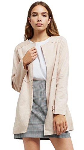 mejor servicio 97c14 a3e9b New Look mujer colorete antelina largo sin cuello chaqueta ...