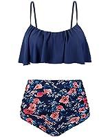 Aixy Bikini Swimwear Beach Wear High Waist Two Piece Swimsuits for Women,Multi-Colored,4XL