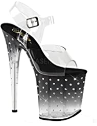 Pleaser STARDUST-808T Exotic Dancer Super High Heels 8 Hot Sexy Platform Sandal.