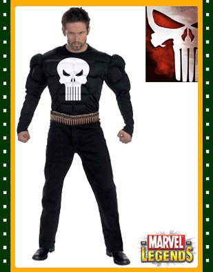Punisher Costume Adult Muscle -