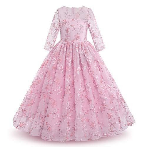 Bloemenmeisjesjurk prinses feestelijke kinderen meisjes jurk feestkleding jurken bruiloft feestjurk bruidsmeisjes…