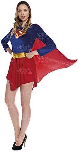 Disfraz Heroína Super Girl Mujer Disfraz Superhéroe Mujer (Talla M ...