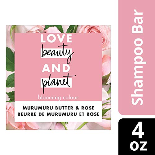Love Beauty And Planet Blooming Color Shampoo Bar for Color Treated Hair Murumuru Butter & Rose Color Vibrancy 4.0 oz from Love Beauty And Planet