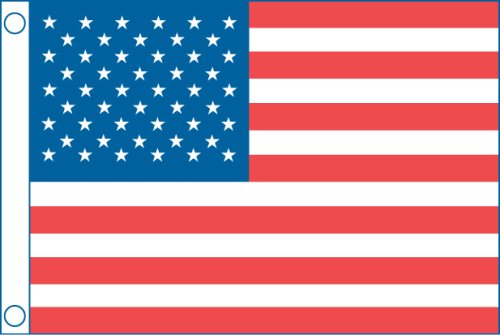 Taylor Made Products 2424 50 Star Us Boat Flag (16'' x 24'')
