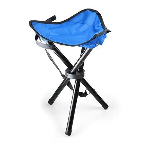 Sgabelli Pieghevoli Campeggio.Sgabello Portatile Sedia Da Campeggio O Da Pesca Max 100 Kg Pieghevole Maniglia Di Trasporto Blu