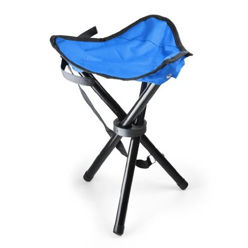 Blue Lightweight, Max Load 10kg /& Built-In Carry Strap Portable Camping and Fishing Outdoors Stool
