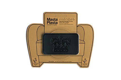 MastaPlasta Self-Adhesive Patch for Leather and Vinyl Repair, Crown, Black - 4 x 2.4 Inch - Multiple Colors Available