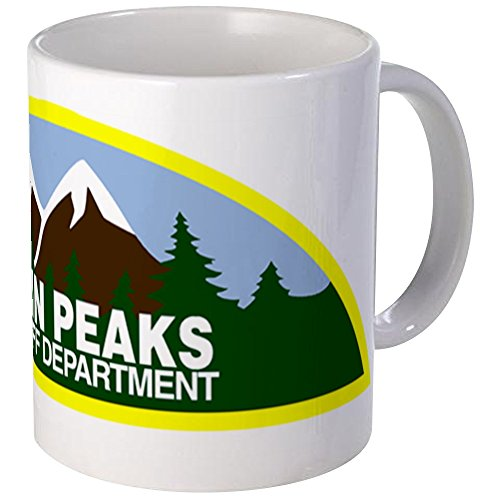 CafePress - Twin Peaks Sheriff Department Mug - Unique Coffee Mug, Coffee Cup (Twin Coffee Peaks)